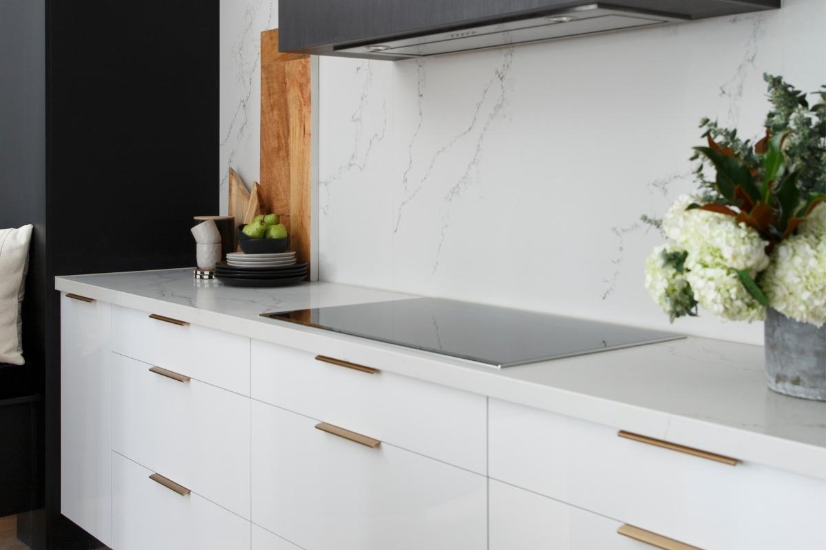 Gold kitchen handles