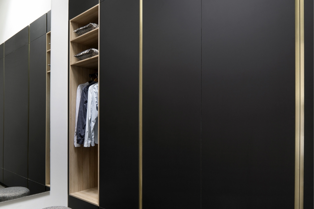 Black hinged wardrobes