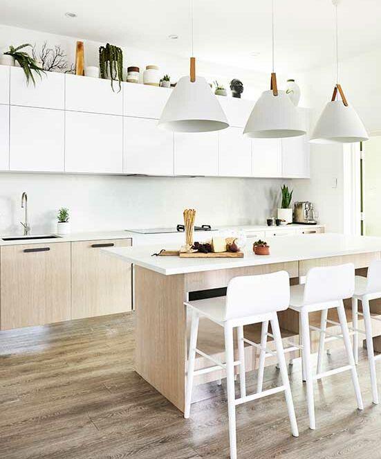 Scandi-style galley kitchen